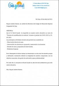 Carta recomendación Gasindi
